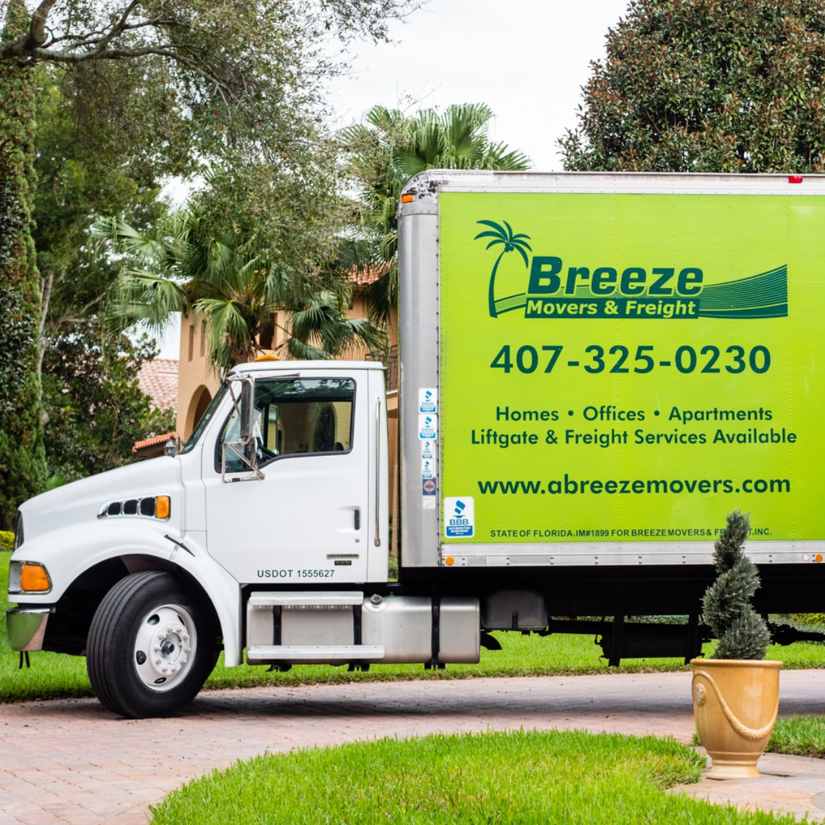 A Breeze Movers truck